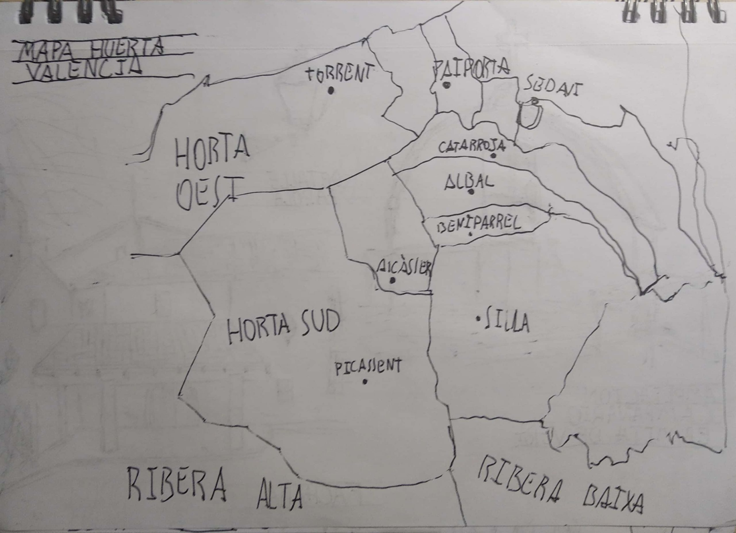 Mapa Huerta Norte